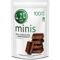 feature image 420 Bar: Chocolate: Milk Hemp Crunch Minis 100mg