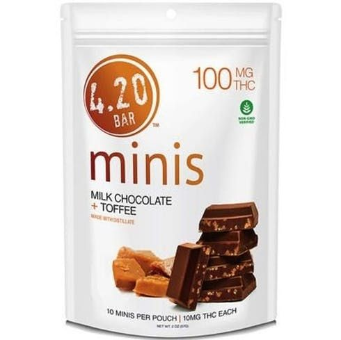 feature image 420 Bar - Milk Chocolate Toffee 100mg