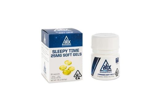 feature image ABX - Sleepytime Capsules - 25mg x 10ct (250mg THC / 2mg CBD)