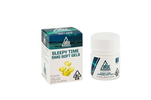 feature image ABX - Sleepytime Capsules - 5mg x 30ct (150mg THC / 2mgCBD)