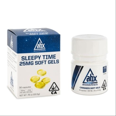 feature image ABX- Sleepy Time (THC) 30ct 25mg/750mg