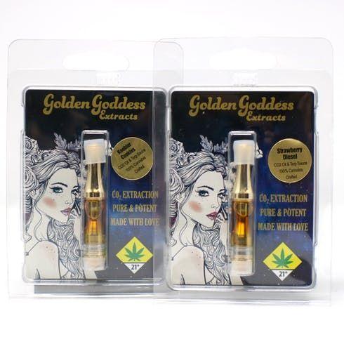 feature image  Golden Goddess Sour Skittles CO2 Cart .5g