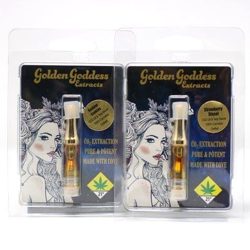 feature image  Golden Goddess Velvet Kush CO2 Cart .5g