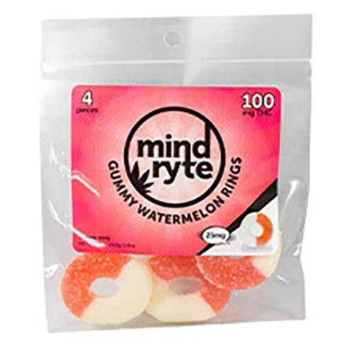 feature image   Mind Ryte- Gummy Watermelon  Rings 100 Mg