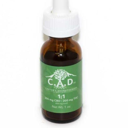 feature image C.A.D: 1:1 Tincture 200mg (Medicinal/Recreational)