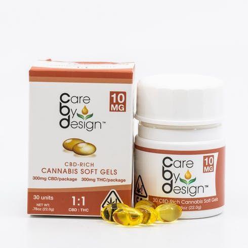 feature image 1:1 CBD:THC soft gels