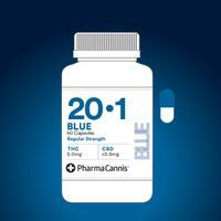feature image Blue 20:1 Capsule Regular Strength (5mg THC | <0.5mg CBD per capsule)