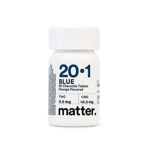 feature image Blue 20:1 Chewable Tablets 20-count, Orange Flavor (9.5mg THC)