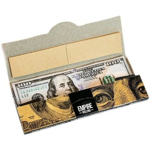feature image 100 Dollar Bill rolling papers - King Size 10pk