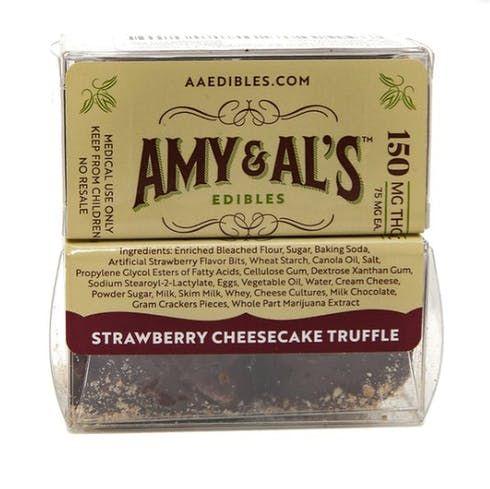 feature image Amy & Al's Strawberry  Cheesecake Truffle 150MG