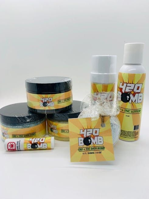 feature image 420 BOMB CBD+THC FACE MASK (TAX INCLUDED)