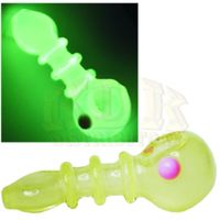 "feature image 4"" 3 Rim Flat Mouth Glow-in-the-Dark Glass Pipe"